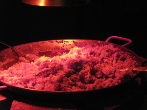 "A ""huge"" paella pan at the TechFlash launch"