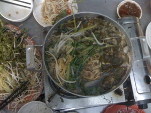 Vietnamese fish hot pot