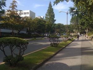 Front entry into Yonsei University Campus