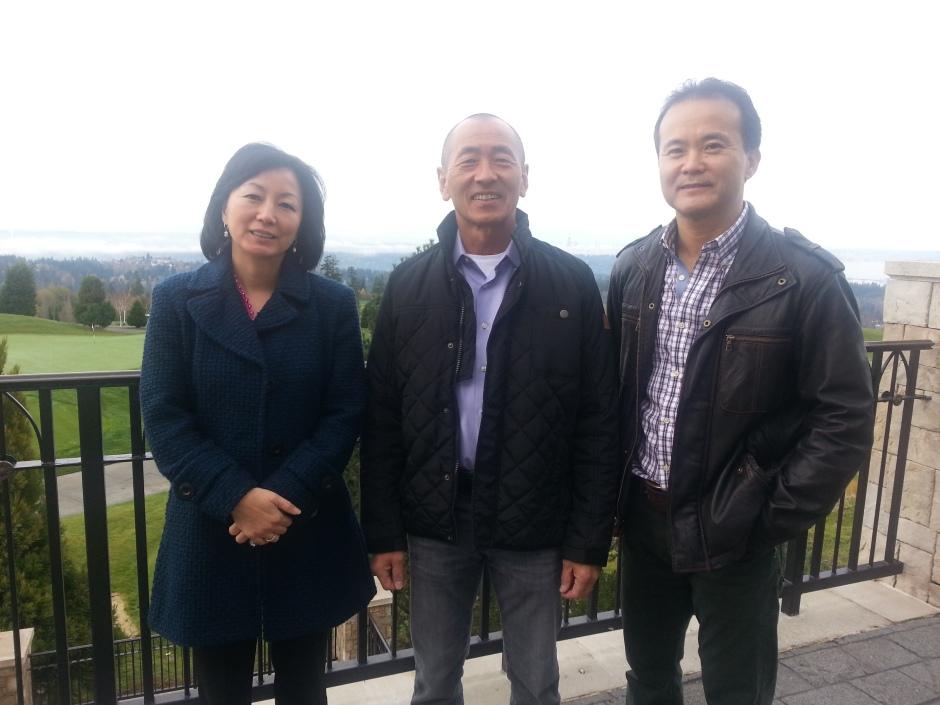 Shari, Scott Oki, John at Newcastle Golf Club